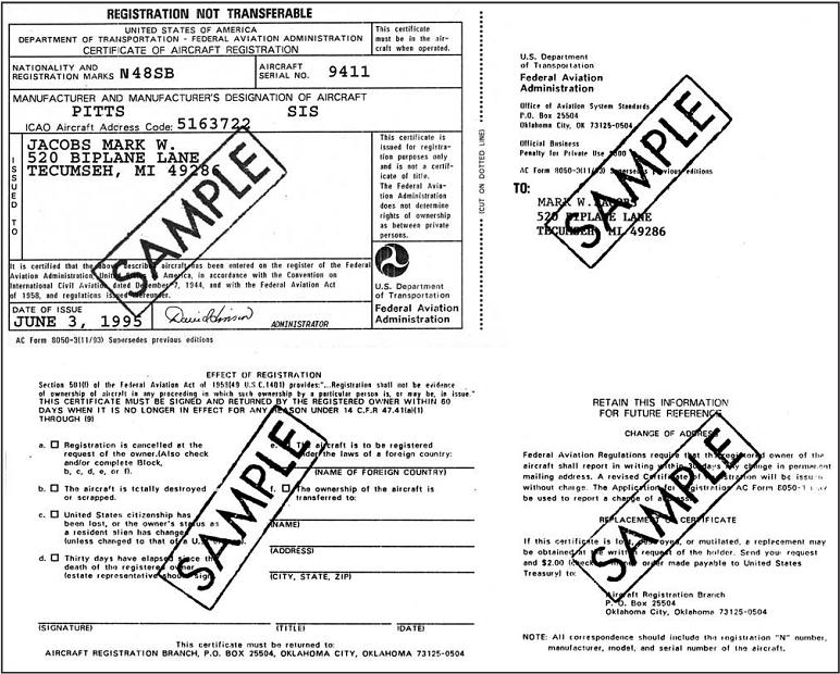 Aircraft documents aircraft registeration certificate yadclub Image collections